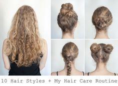10 Hair Styles For Long Hair + My Hair Routine