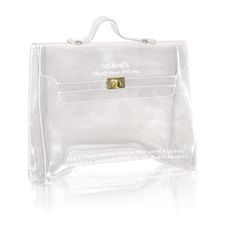 1996 Hermes Transparent Kelly  France    1996 limited edition transparent Hermes Kelly bag. Pristine condition!!