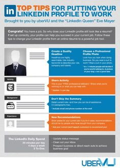 cool What You Need to Do on LinkedIn, Even if You're Not Looking for a Job (Infog...