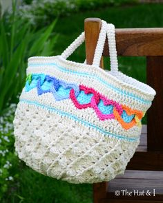CROCHET PATTERN - Have a Heart Tote - a colorful, linked hearts bag/tote/purse - Instant PDF Download by TheHatandI on Etsy https://www.etsy.com/listing/190343428/crochet-pattern-have-a-heart-tote-a