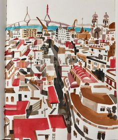 "Christoph Niemann (@abstractsunday) en Instagram: ""Vacation sketching: #Cadiz 🇪🇸"""