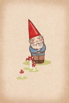 Multiple Personality on Etsy. Love this gnome