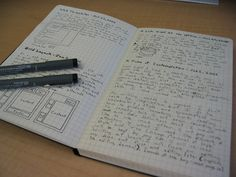 Journal With Pens by David Clark