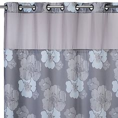 This innovative shower curtain and liner from Hookless have no-hassle hanging thanks to a split ring design that lets you hang them in less than 10 seconds.