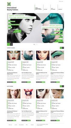 International Beauty Trainers #website #digital #design #green