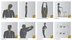 A few key stretches throughout the day can keep us limber and refreshed. This manual of exercises for office workers is great for people like us who are prone to never moving anything but our fingers for eight hours straight.