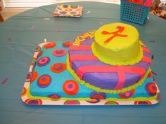 Polka Dot Birthday Cake  Made by Madison
