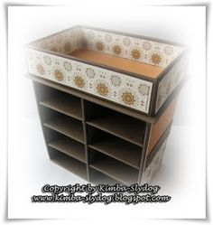 Kimba-Slydog's Creativ-Blog: Regal für meine Stampin'Up-Stanzer - mit Workshop / Shelf for my SU-Punches with Tutorial