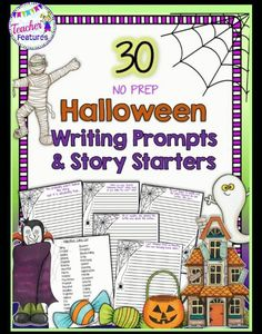 Students (grades 2-4) will have an eerily good time as they use these no prep, spooky story starters and questions to get their creative juices flowing. This engaging resource contains 30 descriptive writing prompts with Halloween themes.