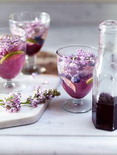 Lilac flower sodas