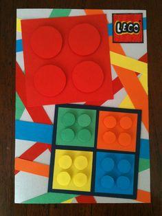 Verjaardagskaart voor en jongen die van lego houdt! Birthday card for a young boy who loves Lego! DIY