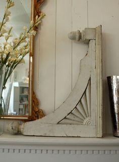 Antique Architectural Salvage Corbel Wood Bracket Decorative Restoration Victorian Rustic Corbel Shelf Display