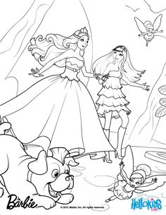 Tori Keira Riff And The Fairies Barbie Printable Coloring PagesThe PrincessThe