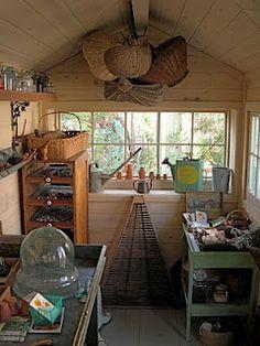 """Inside my garden shed """"Sprig."""""""