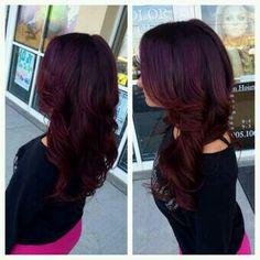 Burgandy Hair