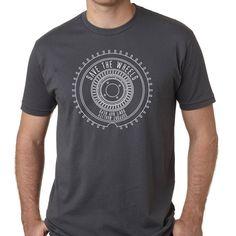 Turbofan wheel tshirt design in Charcoal