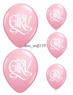 It's A Girl Super Script Latex Balloons, Qualatex Party Decoration, Baby Shower #Qualatex #BabyShower