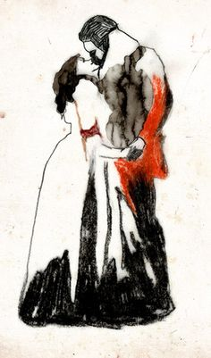 "Catherine & Heathcliff from Emily Bronte's ""Wuthering Heights"" by Froeky via Flickr"