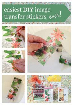 how to make DIY image transfer stickers @diyshowoff #MadeWithMichaels
