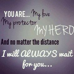 Military love!   I waited through many deployments and am so thankful he came back to me. Love my retired military man!