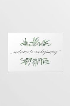 Easy to print wedding stationery for only $5. This printable sign is part of the Olive wedding stationery collection. Olive branch pattern play and a sloping grey font combine to bring a touch of earthy romance to your occasion.