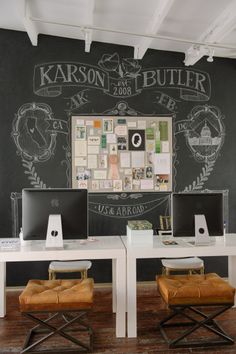 Chalk fab: http://www.stylemepretty.com/living/2015/03/19/30-of-the-prettiest-offices-ever/