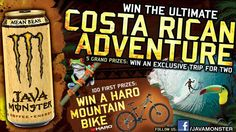 Monster Energy is organizing the Ultimate Costa Rican Adventure Sweepstakes and is giving away the chance to win an exclusive trip for two to Costa Rica in 2012 and HARD mountain bikes!