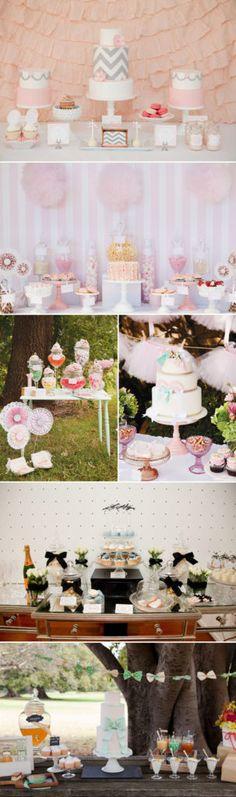 More Party Ideas Birthday Table, Birthday Dinners, Birthday Parties, Buffets, Diy Birthday Decorations, Wedding Decorations, Candy Bar Wedding, Table Wedding, Ballerina Cakes