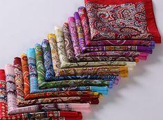 Silk pocket squares                                                                                                                                                                                 More