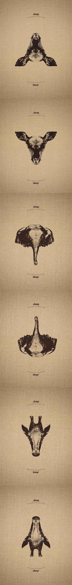 Un'idea geniale quella di Jeep per rappresentare la versatilità dei loro mezzi!
