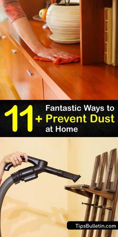 Dust particles contain allergens and a build-up of dust on your bedding, pillowcases, and furniture triggers allergies. Discover how to lessen the amount of dust in your home by using a static feather duster and vacuum cleaner and installing air filters. #howto #prevent #dust Pillowcases, Allergies, Hvac Filters, Fabric Softener Sheets, Bedding, Feather Duster, Organizing, Organization, Citrus Essential Oil