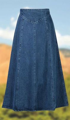 Discount Womens Clothing Canada Source by clothes canada clothing canada Demin Skirt Outfit, Skirt Outfits, Modest Dresses, Modest Outfits, Maxi Dresses, A Line Denim Skirt, Denim Skirts, Jean Skirts, Denim Jeans