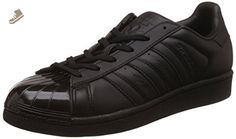 adidas Originals Superstar Glossy Toe W Ladies Trainers Black BB0684, Size:40 - Adidas sneakers for women (*Amazon Partner-Link)