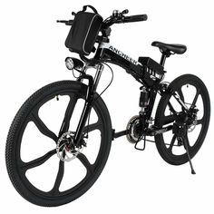 ECOTRIC New Fat Tire Folding Electric Bike Beach Snow Bicycle ebike electric moped Electric Mountain Bicycles … E Mountain Bike, Folding Mountain Bike, Mountain Bike Reviews, Electric Mountain Bike, Full Suspension Mountain Bike, Black Mountain, Electric Bike Review, Electric Moped, Best Electric Bikes