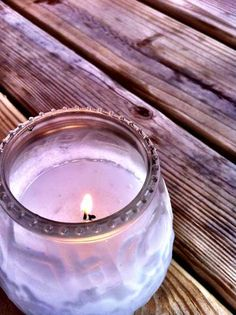 Mauve candle light