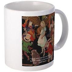 #Alice & #LookingGlass #Mug & #LewisCarroll #Quote #Mug @cafepress @LTCartoons #gift #sale #coffee #fairytale #fantasy