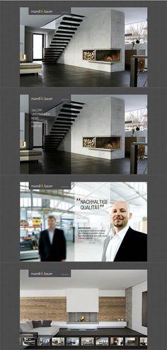 MANDL & BAUER // Konzeption und Webdesign www.lunik2.com #webdesign #creativ #chimney #fireplace #branding #befirst