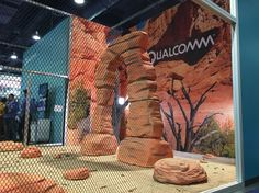 Fabric walls for Qualcomm #booth at #CES Las Vegas