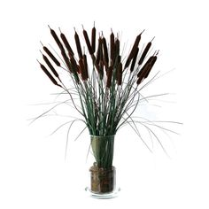 Silk Cattail Floral Arrangement