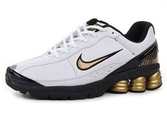 Chaussures Nike Shox R6 Or/ Blanc/ Noir [nike_12313] - €45.85 : Nike Chaussure Pas Cher,Nike Blazer and Timerland  http://www.facebook.com/pages/Chaussures-nike-originaux/376807589058057  http://www.topchausmall.com/