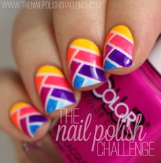 the nail polish challenge: Fishtail Braid Nail Art With Color Club Poptastic Collection