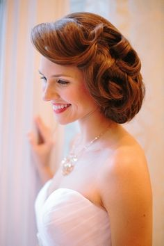 #hairstyles  Photography: The Photography of Haley Sheffield - haleysheffield.com Event Design: Jessica Interiors - jessicainteriors.com Floral Design: Gertie Mae\'s Floral Studio - gertiemaes.com  Read More: http://www.stylemepretty.com/2012/12/31/atlanta-new-years-eve-wedding-shoot-at-georgian-terrace-hotel/