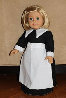 """MADE: Pieces For Reese: 18"""" Doll: Pilgrim Dress"""