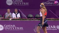 2017 Qatar Total Open Quarterfinals   Dominika Cibulkova vs Samantha Sto...