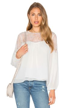 Endless Rose Lace Blouse in White