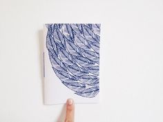 Handmade Pocket Journal with Leaves Print Hand by mipluseddesign, $14.00