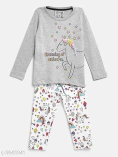 Nightsuits Fancy Cotton Blend Night Suits Fabric: Cotton Blend Sleeves: Full Sleeves Are Included Size: Age Group (1 - 2 Years) - 18 in Age Group (2 - 3 Years) - 20 in Age Group (3 - 4 Years) - 22 in Age Group (4 - 5 Years) - 24 in Age Group (5 - 6 Years) - 26 in Age Group (6 - 7 Years) - 28 in Age Group (7 - 8 Years) - 30 in Type: Stitched Description: It Has 1 Piece Of Girl's Top & 1 Piece Of Pant Work / Pattern: Top - Printed Bottom - Printed Country of Origin: India Sizes Available: 2-3 Years, 3-4 Years, 4-5 Years, 5-6 Years, 6-7 Years, 7-8 Years, 1-2 Years   Catalog Rating: ★4.3 (396)  Catalog Name: Girl's Fancy Cotton Blend Night Suits Vol 1 CatalogID_507996 C62-SC1158 Code: 903-3643341-447