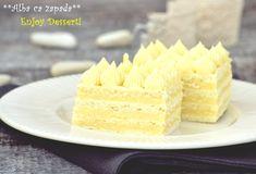Prajitura Alba ca zapada Snow White Cake, Food Cakes, Vanilla Cake, Cake Recipes, Cheesecake, Deserts, Sweets, Dishes, Fancy