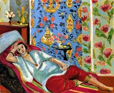 Henri #Matisse - Odalisque in Red Trousers