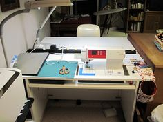 My Sewing Desk by Piecemeal Quilts, via Flickr